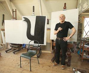 Klaas Gubbels in zijn atelier