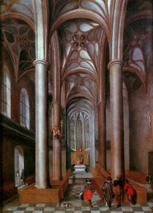 Interieur van de voormalige Augustijnenkerk te Neurenberg