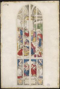 De geboorte van Johannes de Doper (naar raam/carton 11)
