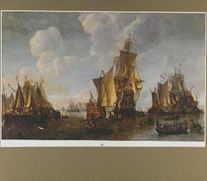 Hollandse vloot bij Dordrecht