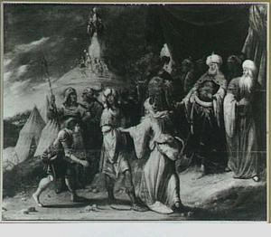 Samuel laat  Agag, de koning der Amalekieten, ter dood brengen  (1 Samuel 15:32-33)