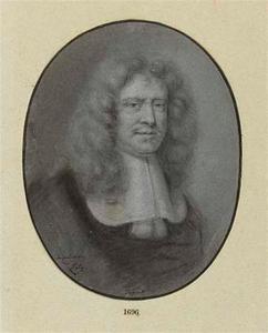 Portret van de schilder Peter Lely (1618-1680)