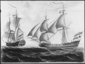 Het snauwschip 'Meermin' van de Admiraliteit van Zeeland, tweemaal afgebeeld