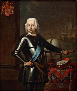Portret van Ernst des H.R.Rijksbaron de Petersen (?-1762)
