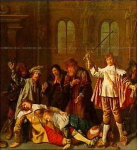 Scène uit het laatste bedrijf van Bredero's Lucelle