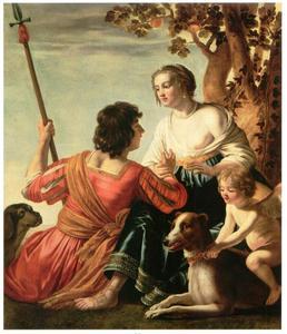 Venus , Adonis en cupido