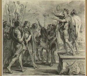Het embleem van Christus verschijnt aan Constantijn