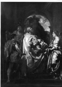 De Madonna van Vallicella vereerd door de Heilige Gregorius, Domitilla, Maurus, Papianus en Achilleus