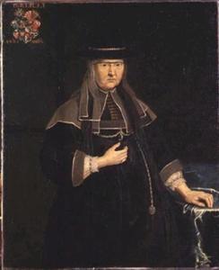 Portret van Ellen Marsvin (1572-1649), de moeder van Kirsten Munk (1598-1658)