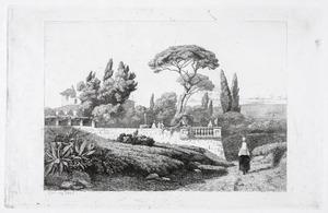Italiaans landschap met een villa