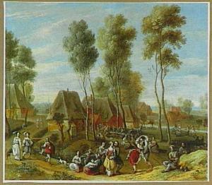 Landschap met dorpskermis