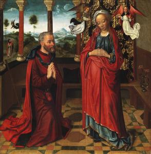 De kroning van Maria met de Heilige Jozef