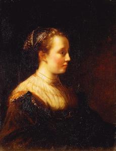 Jonge vrouw in fantasiekostuum