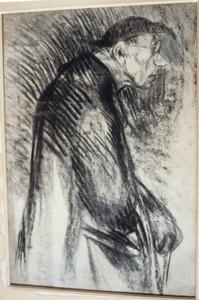 Portret van een pastor en profil