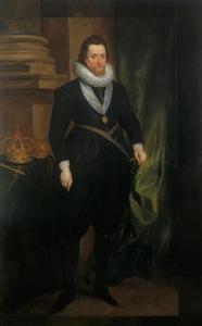Portret van James I Stuart (1566-1625|), koning van Engeland en Schotland
