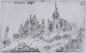 Eltenberg met het gedeeltelijk vervallen klooster