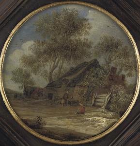 Landschap met een boerderij