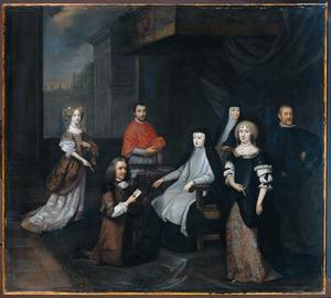 Nederlands buitengewoon ambassadeur Hieronymus van Beverningh (1614-1690) wordt in geheime audiëntie ontvangen door de Spaanse koningin-regentes Maria-Anna van Oostenrijk, 2 maart 1671