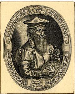 Portret van Gerard Mercator (1512-1594)