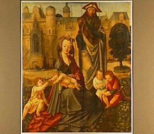 Maria Cleophas met haar vier kinderen en de H. Jacobus de Meerdere