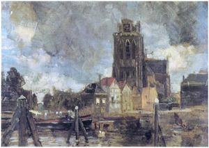Zicht op Dordrecht met Grote Kerk