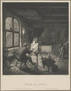 Adriaan van Ostade in zijn atelier