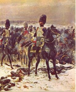 """""""Haut les têtes ! La mitraille n'est pas de la merde"""",  Kolonel Lepic in Eylau op 8 februari 1807"""