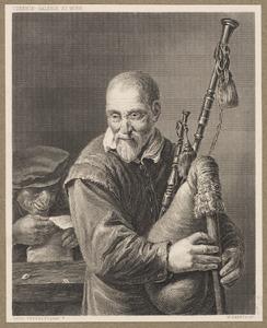 Oude man met een doedelzak