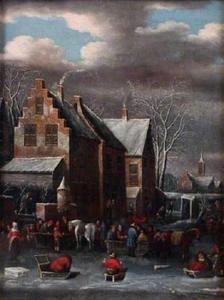 Winterlandschap met huis