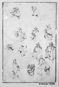 Studies van staande figuren