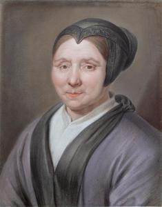 Portret van een oudere vrouw met tipmuts