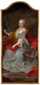 Portret van Maria Theresia van Oostenrijk (1717-1780) als koningin van Hongarije