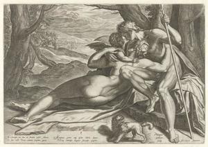 Venus en Adonis met Amor