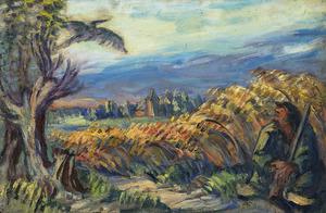 Boer voor korenveld