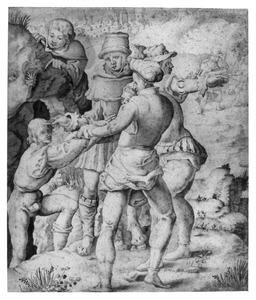 Jozef door zijn broers uit de put getrokken om verkocht te worden aan de Midianitische kooplieden (Genesis 37:28)