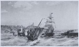 Scheepvaart in de haven van Boulogne
