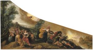 Minerva verdedigt de Zeven Vrije Kunsten tegen Mars
