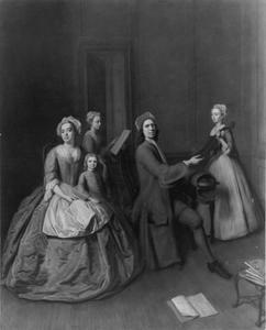 De kunstenaar Balthasar Denner met zijn familie