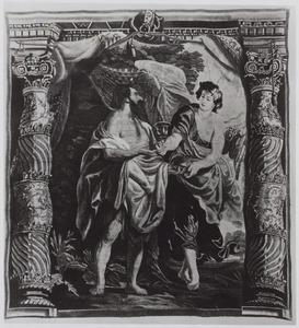 De profeet Elia gevoed door een engel op de berg Horeb (I Koningen 19:5-6)
