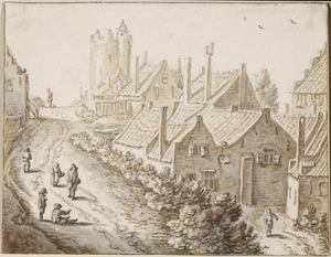 De stadswal van Utrecht met de Bijlhouwerstoren