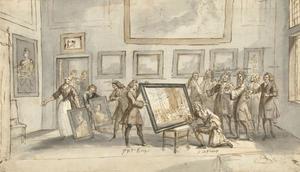 Prins Eugen von Savoyen bij de kunsthandelaar Jan Pietersz. Zomer