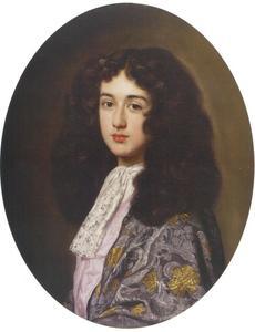 Portret van een jonge man met een allonge-pruik