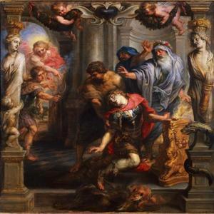 Achilles wordt dodelijk getroffen door Paris