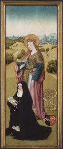 De H. Catharina met Henricxken van Langel en dood kind (buitenzijde: De H. Maria Magdalena met Heylwich Henricx van der Rullen en haar dochters)