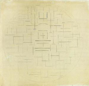Composition in circle (church façade?)