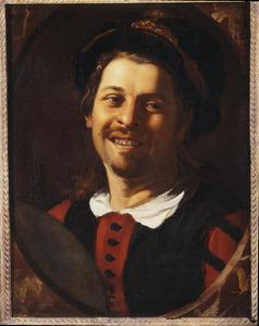 Zelfportret als lachende jongeman