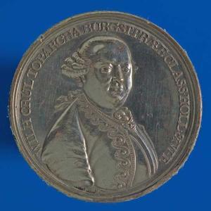 Portret van Willem Crul (1721-1781) (voorzijde)