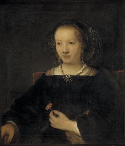 Jonge vrouw met anjer