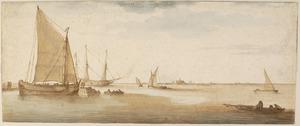 Het Haarlemmermeer, op de achtergrond Haarlem