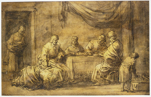 Christus bij de maaltijd van Simon de Farizeer (Mattheus 26:6-13)